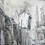 Vue du Pont de Mantes, d'après Pseudo-Corot