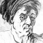 Tête d'homme enturbanné, d'après Fragonard