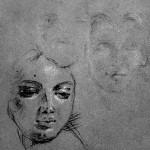 Portraits de jeune-fille, d'après Tiepolo