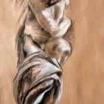 """Étude du """"Jour"""" de Michelange, d'après le Greco"""