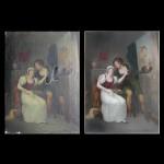 Peintre Courtisan, Avant et après restauration