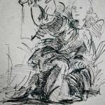 Ange agenouillé, d'après Léonard de Vinci
