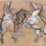 Étude de chevaux, d'après Delacroix